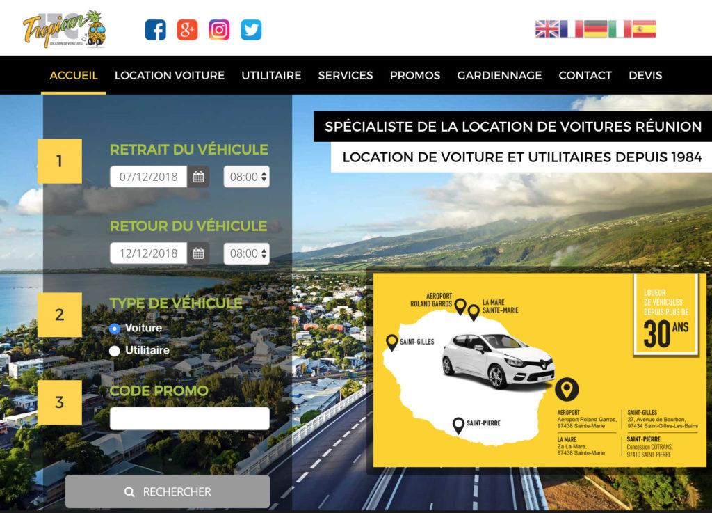 Agence de location de voiture et utilitaires Réunion